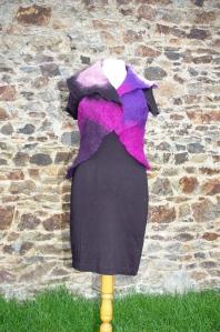 boléro noir violet