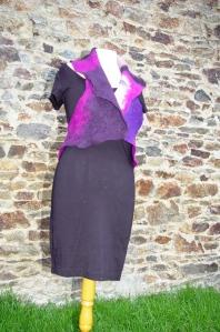 boléro noir violet2