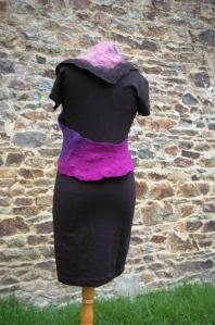 boléro noir violet3