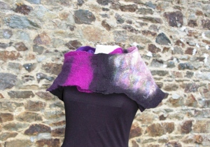 boléro noir violet4