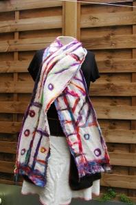 écharpe étamine fibres