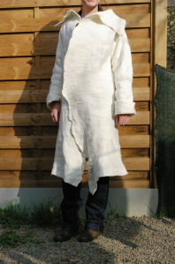 manteau laine feutrée