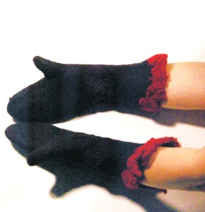 gants noir dos