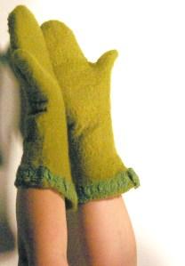 gants verts dos