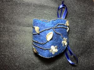 Bracelet manchette bleu argent