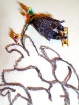 art textile, dentelle aux fuseaux, coeur jardin 2