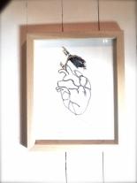 art textile, dentelle aux fuseaux, coeur jardin 3