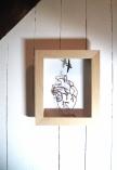 Ajouter une description…art textile, dentelle aux fuseaux, coeur oiseau 1, moineau