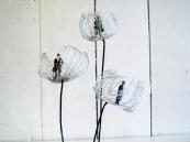 cloche fleur4, art textile