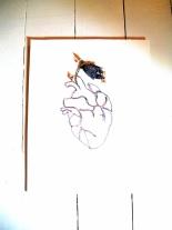 art textile, dentelle aux fuseaux, coeur jardin 1