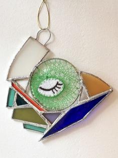 art textile, art contemporain, dentelle contemporaine, fils métalliques, sculpture verre