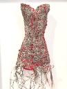 art textile, art contemporain, dentelle contemporaine, fils métalliques, fil recyclé