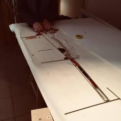 art textile, art contemporain, dentelle contemporaine, fils métalliques